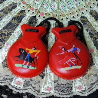varnished souvenir wood castanets