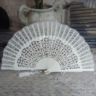 silk lace wedding fan