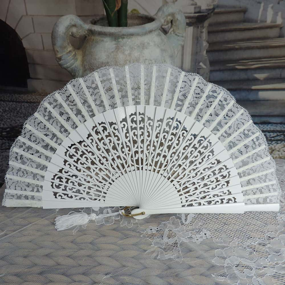 silk lace wedding fan