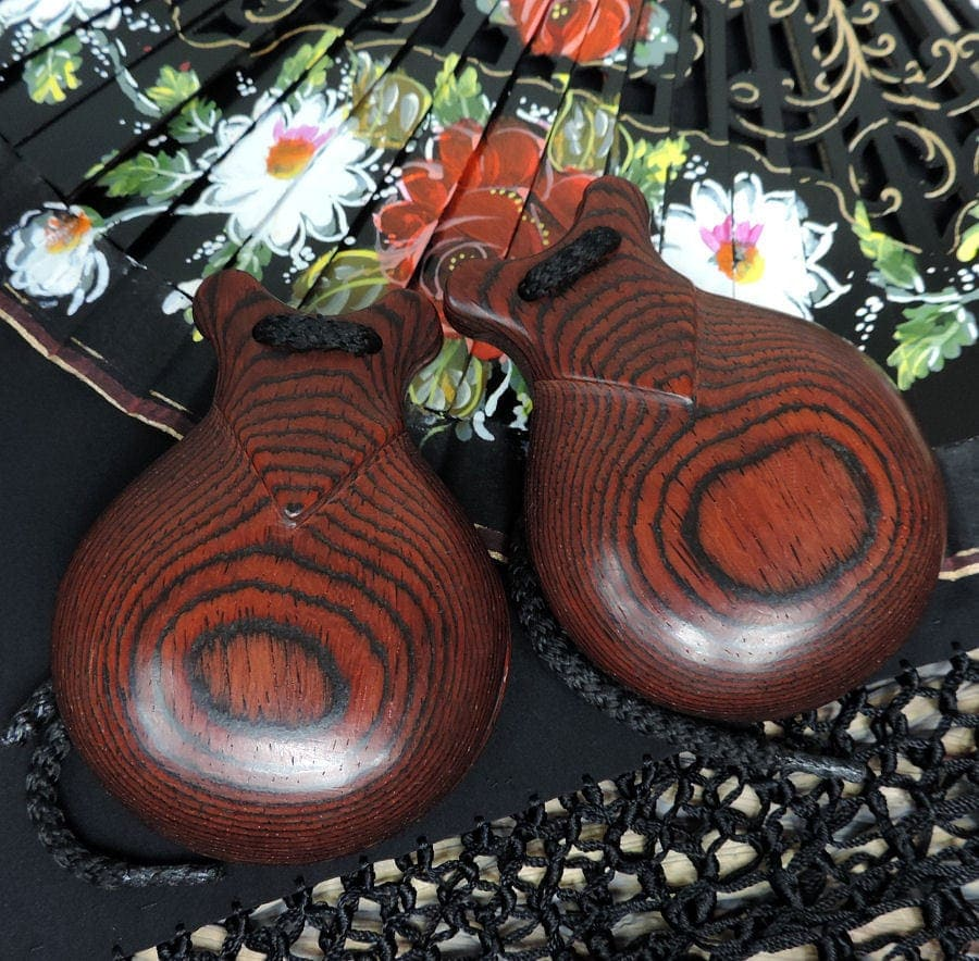 Professional fiber rosewood blend castanets