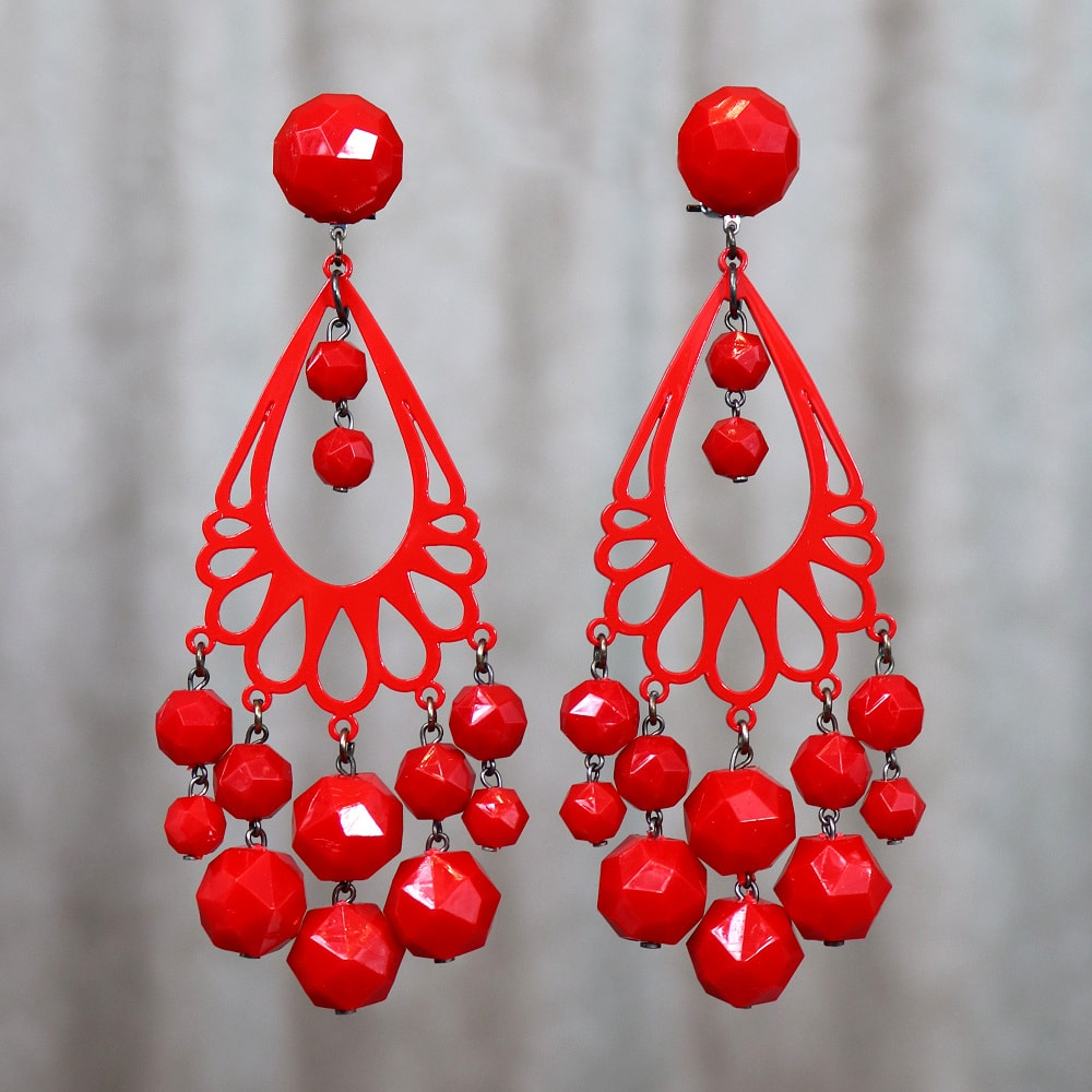 large dangle earrings