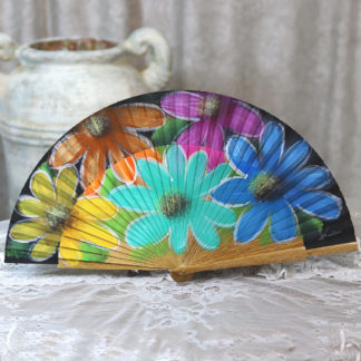 painted wood fan