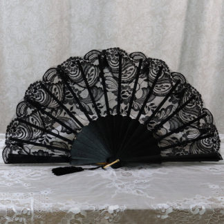 black lace fan