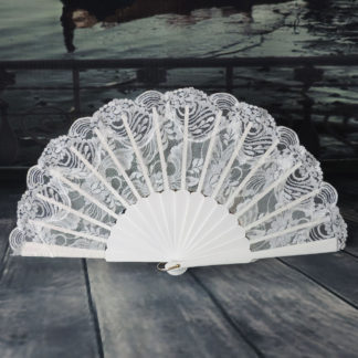 lace wedding fan