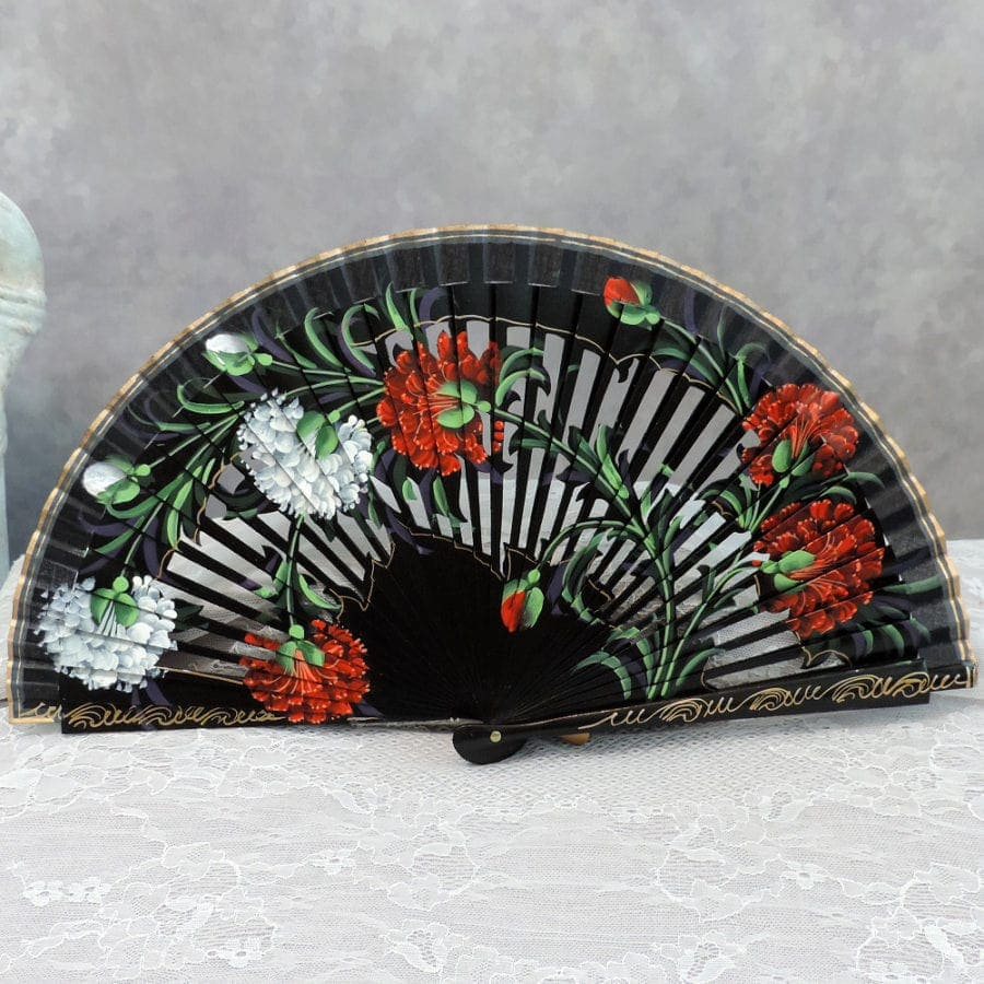 hand painted collectors fan