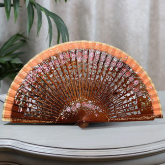 hazelnut wood fan