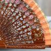 hazelnut wood fan