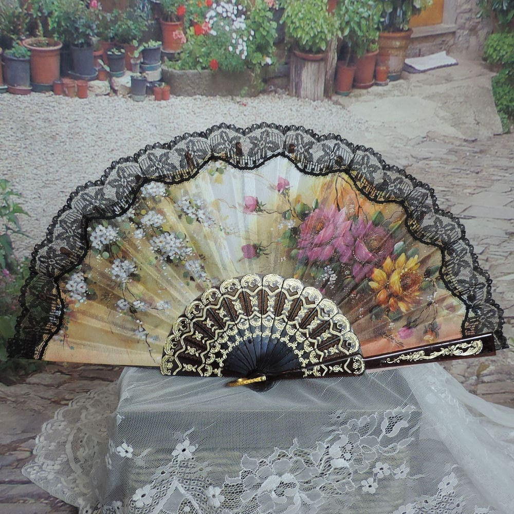 Spanish printed hand fan