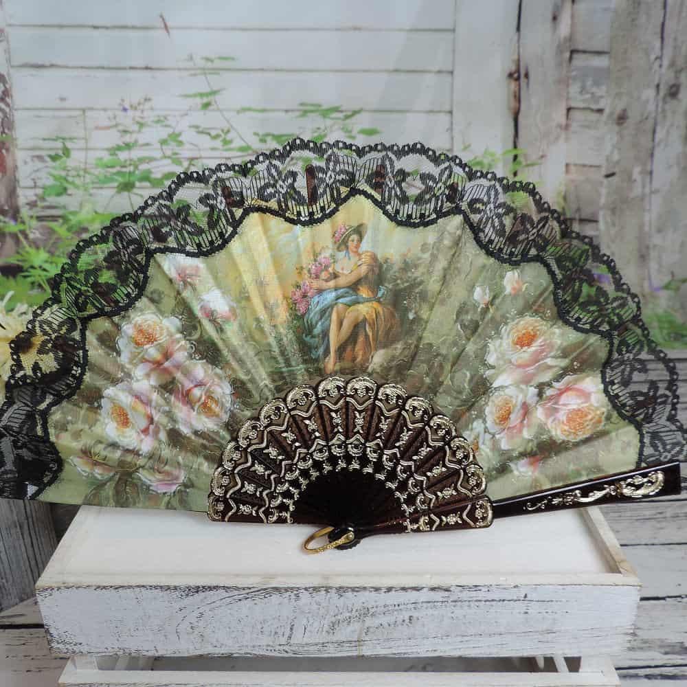 Victorian hand fan