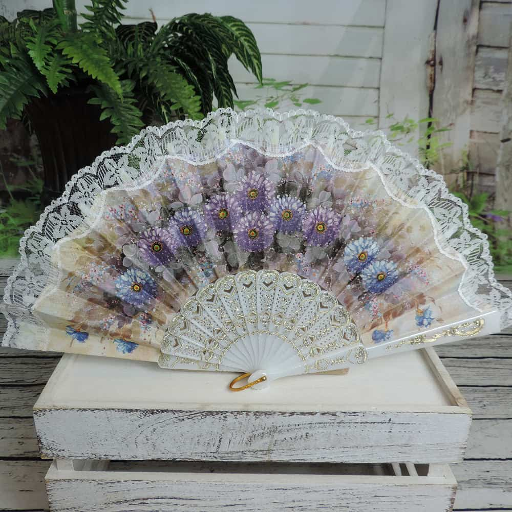 floral Spanish printed hand fan