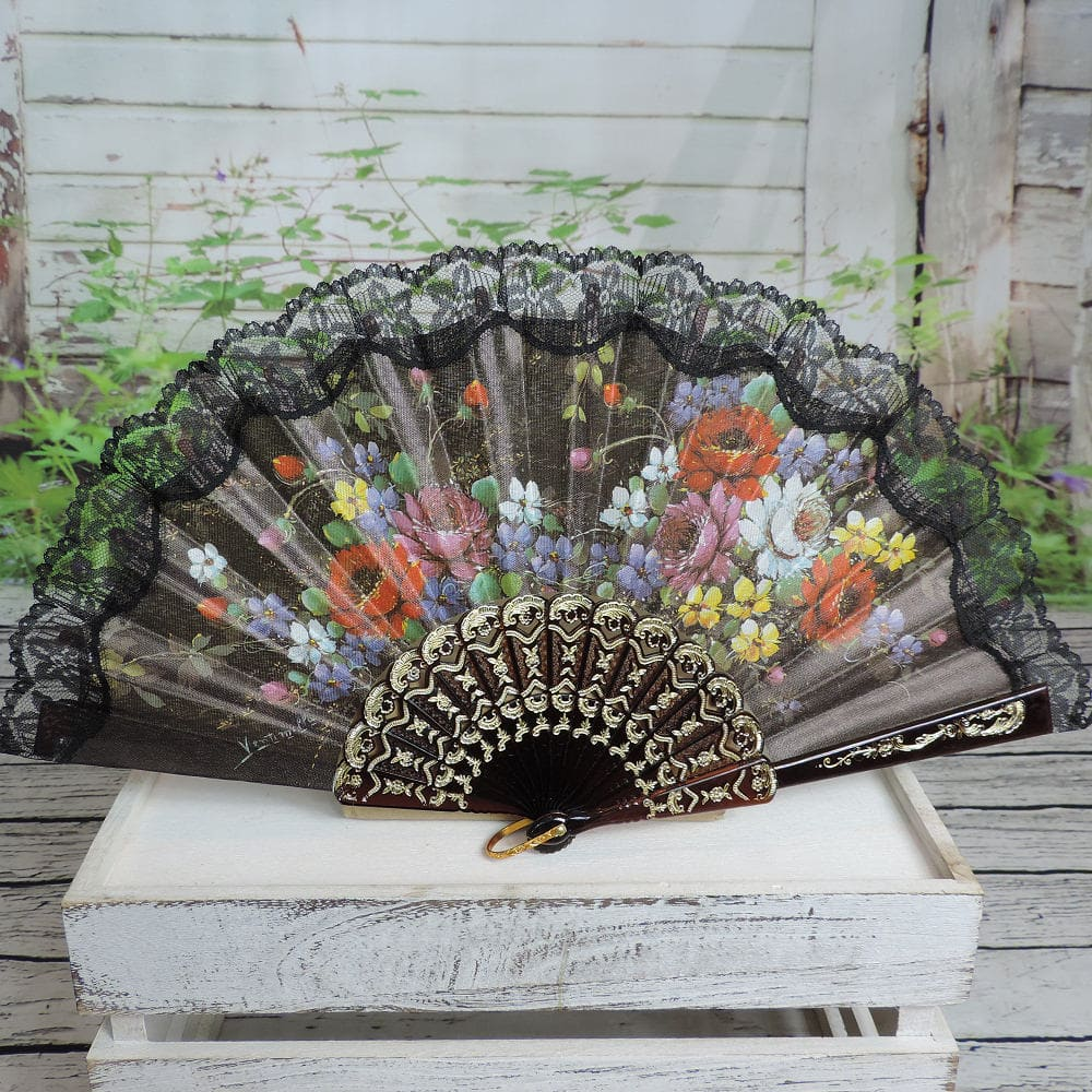 Spanish printed fans