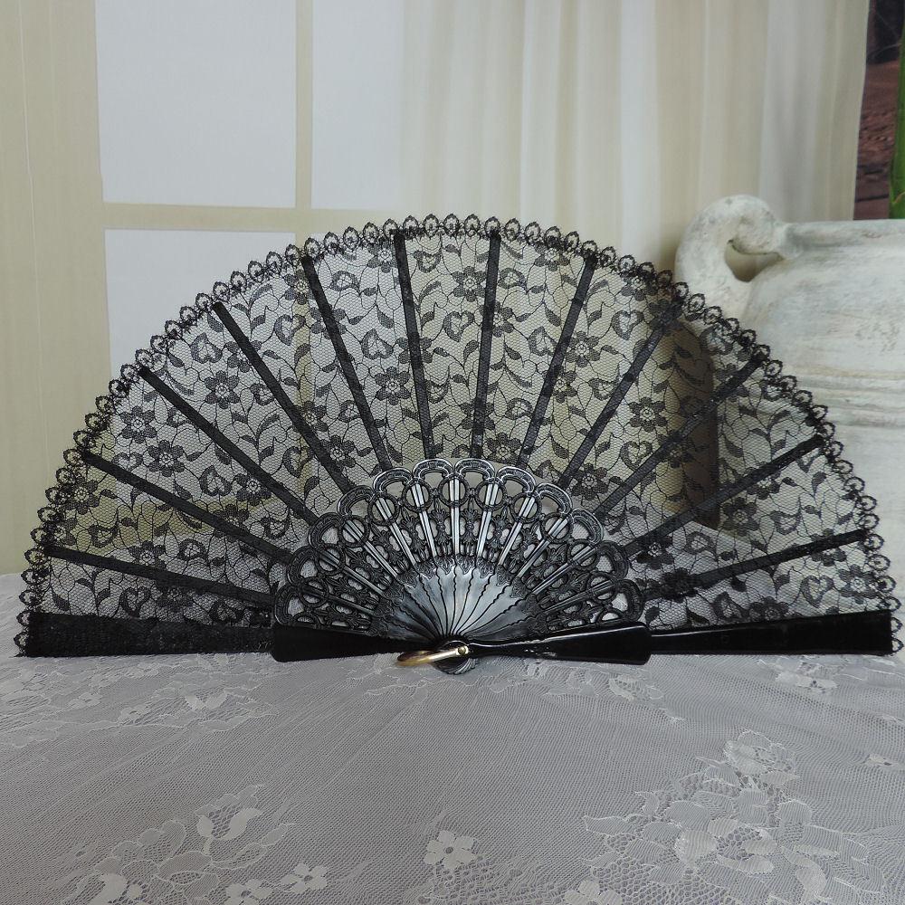 Lace hand fans