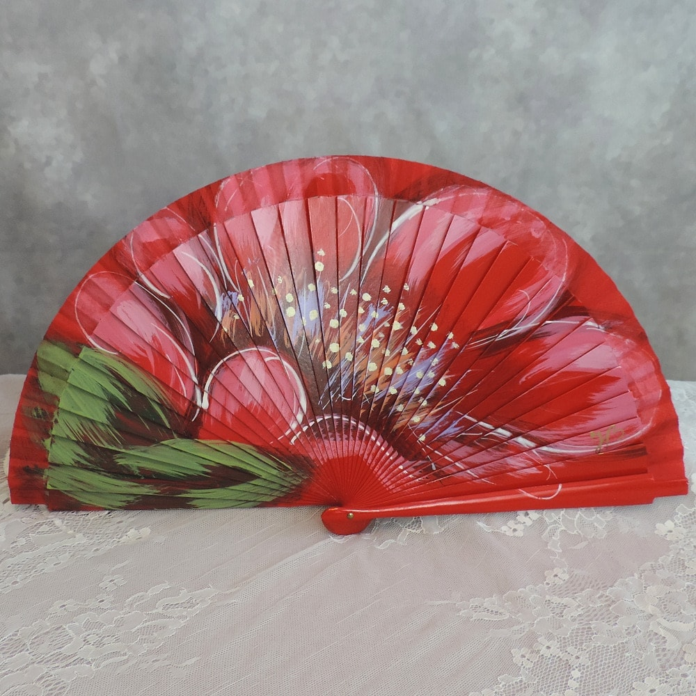 hand painted Spanish fans