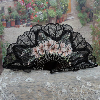 Painted Fabric & Lace Fans