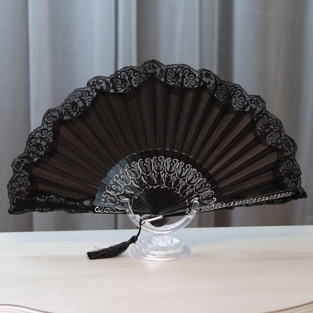 elegant lace fan