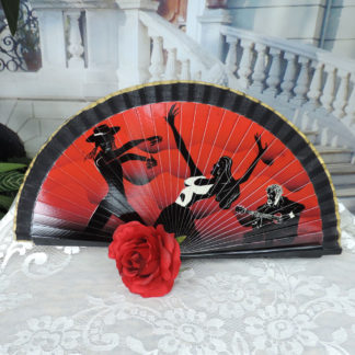 Spanish wood hand fan