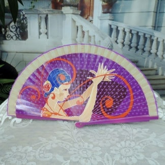 printed wood fan