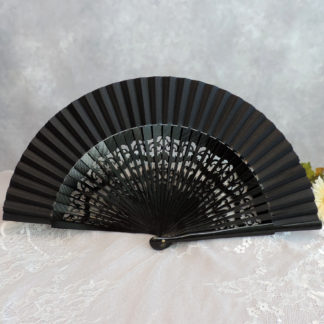 carved wood fans
