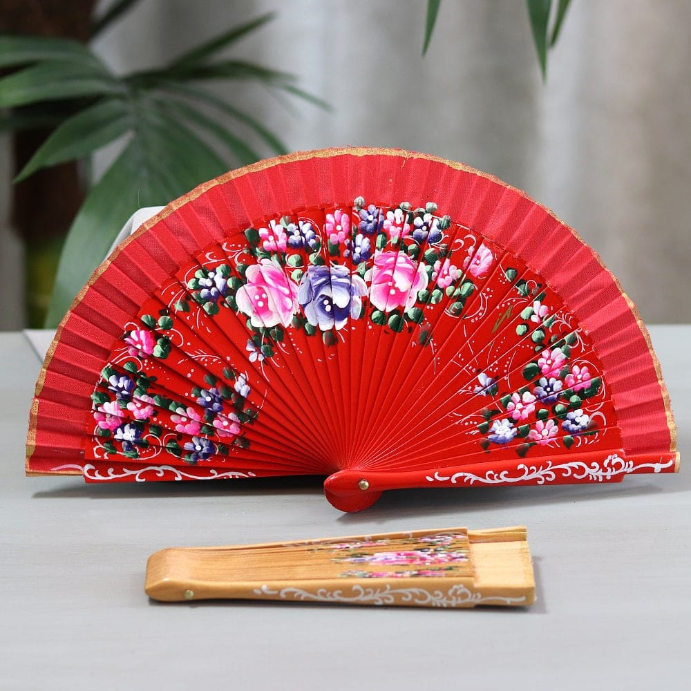 Small painted fan