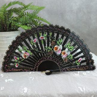 Carved wood fan