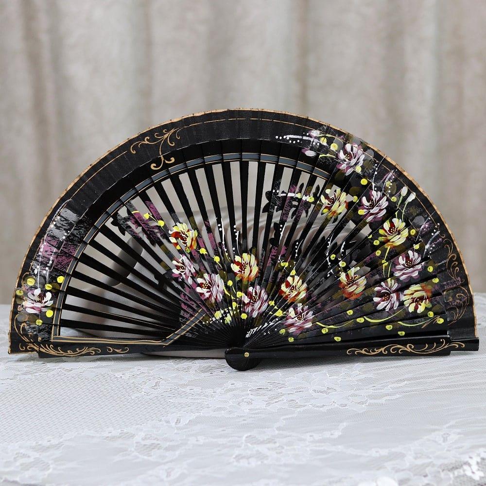 beautiful hand painted fan