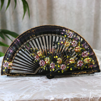 beautiful hand painted fan