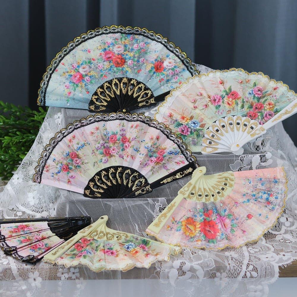 floral mini fans