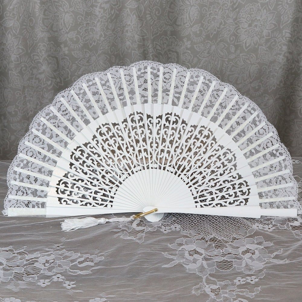 lace bridal fan
