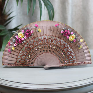 painted Spanish hand fan