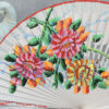 bold painted floral hand fan