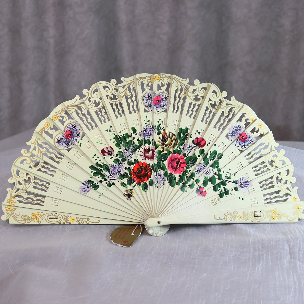 Hand painted collector fan