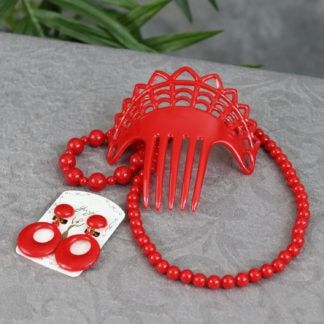 Girls flamenco accessory set