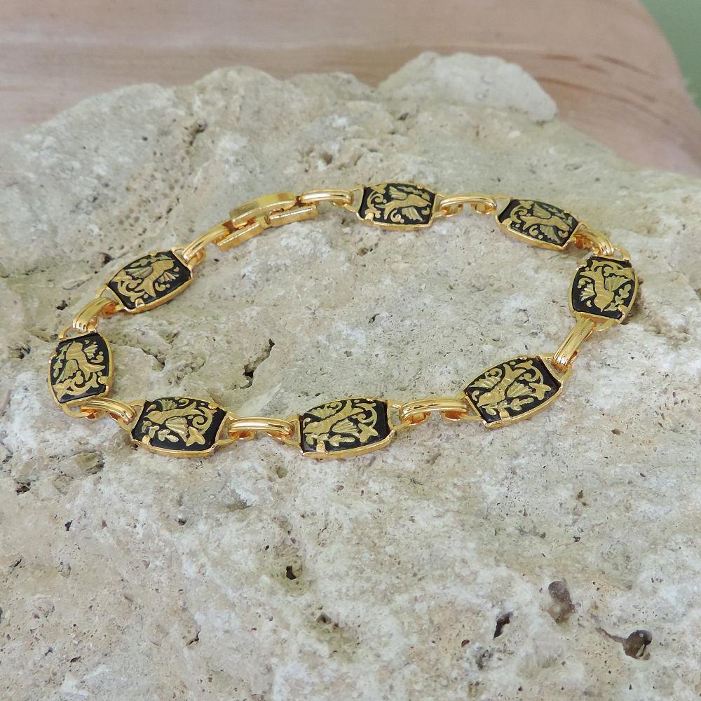 elegant damascene bracelet
