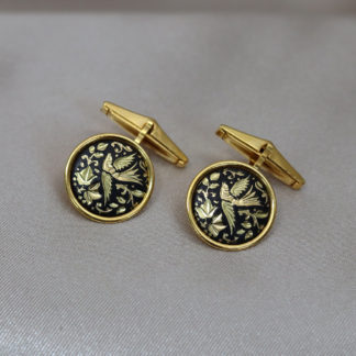 damascene cuff links
