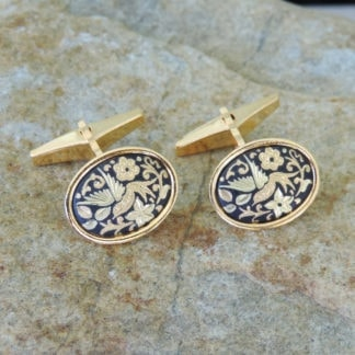 damascene cufflinks