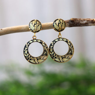 damascene hoop earrings