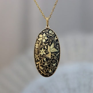 large damascene pendant