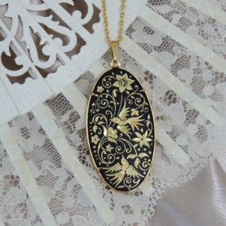 large damascene pendant