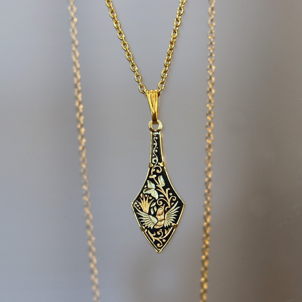 damascene pendant