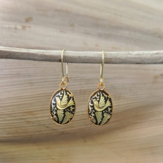 damascene wire hook earrings