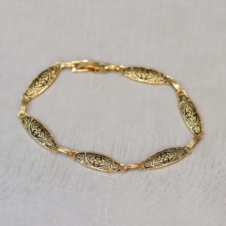 damascene oval link bracelet