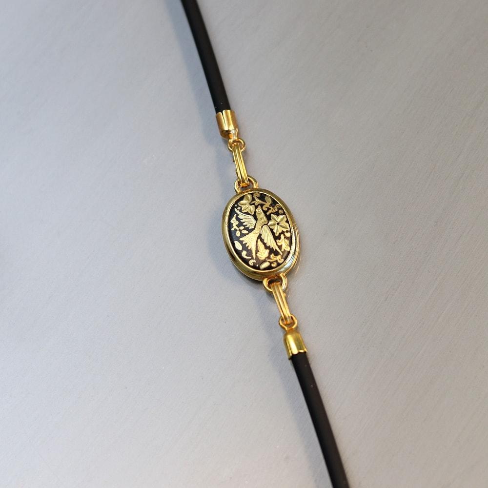 damascene chord bracelet