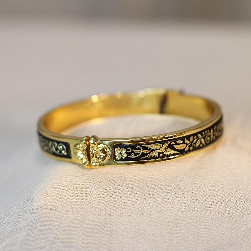 damascene cuff bracelet
