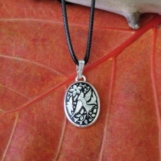 silver damascene necklace