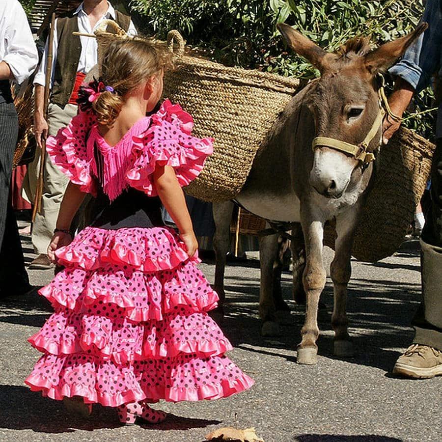Girls Flamenco Dress Spanish Dress Made In Spain