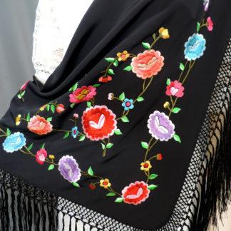 poly knit shawl