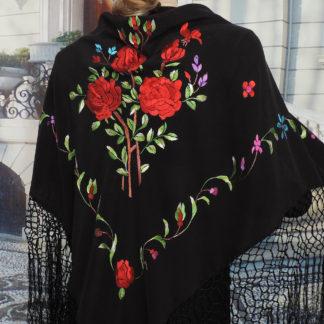 red rose shawl