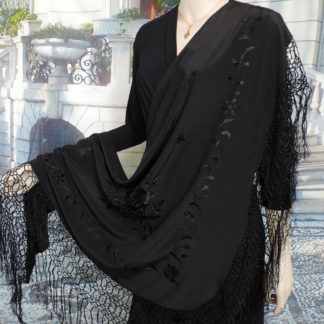 black silk pico shawl