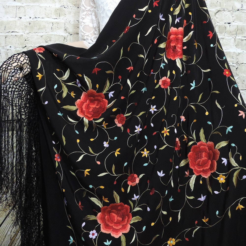 silk manton shawl