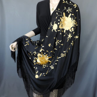 embroidered manton shawl